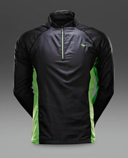 Mizuno breath thermo windtop aw14 running windproof jackets black green aw14 j2gc450493 0
