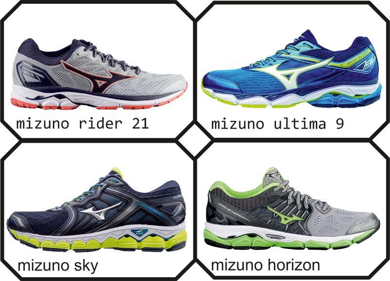 2ca080a8 Если Rider 21 - универсальные кроссовки, то Ultima 9 - лучше справляются с  длительными тренировками в спокойном темпе. Mizuno Wave Sky / Wave Horizon  - два ...